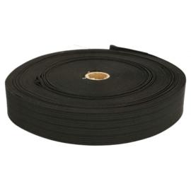 Bandelastiek van zachte kwaliteit / Zwart / 50 mm breed