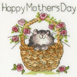 Borduurpakket Margaret Sherry - Basket Of Roses - Bothy Threads    bt-xgc15
