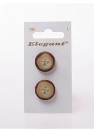 Knopen Elegant - Bruin / 786