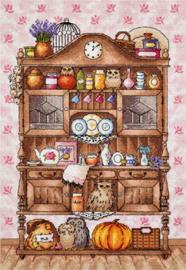 Borduurpakket Kitchen Cabinet with Owls - PANNA    pan-1864-pt