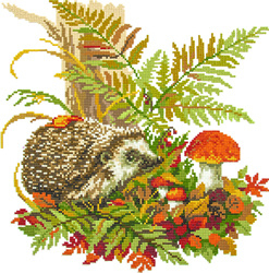 Diamond Painting Hedgehog in the Forest - Freyja Crystal    fc-alvr-013-120