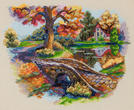Borduurpakket Autumn Landscape - Merejka    mer-k103