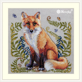 Borduurpakket The Fox - Merejka    mer-k144