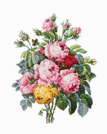 Borduurpakket Roses - Luca-S    ls-ba2372