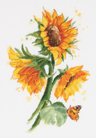 Borduurpakket Bright Sunflowers - PANNA    pan-7136-c