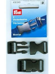 Prym Klikgespen zwart 16 mm / 2 per pakje  / 416 340