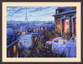 Borduurpakket Paris Evening Deja Vu - Merejka    mer-k188