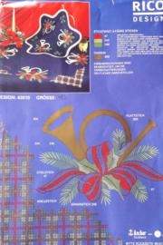 RICO Design Blauwe Kerst Tafelloper / 43010