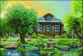 Borduurpakket Russian Fishing Village - PANNA    pan-0494-de