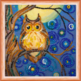 Kralen borduurpakket Midnight Owl - Abris Art    aa-am-103
