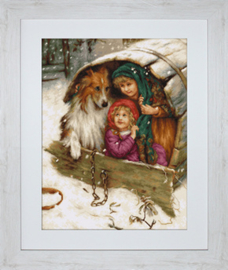 Petit Point Borduurpakket Weather Bound with Collie - Luca-S    ls-g539