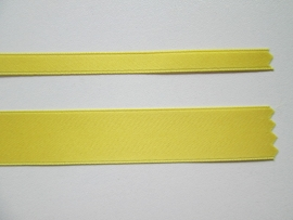 Satijnlint satin double face Deluxe  6 mm en 16 mm zon geel 26