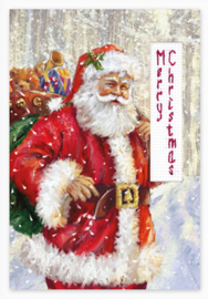 Borduurpakket Postcard - Christmas - Luca-S    ls-sp094