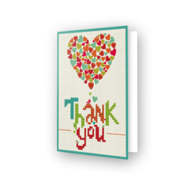 Diamond Dotz Greeting Card Thank You Heart - Needleart World    nw-ddg-005