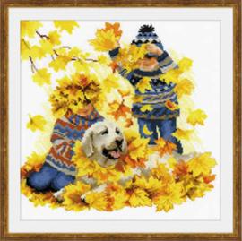 Borduurpakket Autumn Holidays - RIOLIS    ri-1694