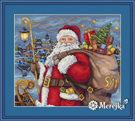 Borduurpakket Santa is Coming! - Merejka    mer-k102