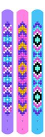 Diamond Dotz Dotzies 3 Bracelets Multi Pack - Mauves - Needleart World    nw-dtz11-011