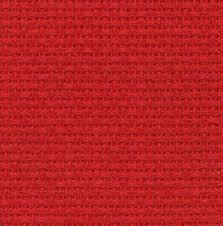 Aidastoffen Aida 5,5 b.cm / Rood / 50 x 80 cm