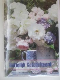 Wenskaarten Hartelijk Gefeliciteerd met bloem