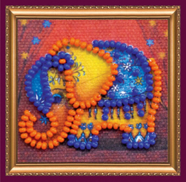 Kralen borduurpakket Orange Elephant - Abris Art    aa-amm-049