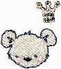 HKM Mode Applic. Set Teddybeer met kroon