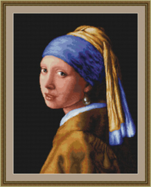 Borduurpakket Girl with a Pearl - Luca-S    ls-b467