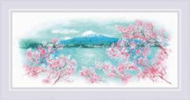 Borduurpakket Sakura - Fuji - RIOLIS    ri-1744