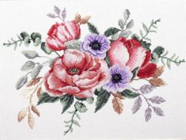 Voorbedrukt borduurpakket Elegant Bouquet - Needleart World    nw-nc440-094