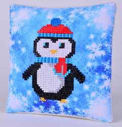 Diamond Dotz Christmas Penguin Kussentje - Needleart World    nw-ddp02-023