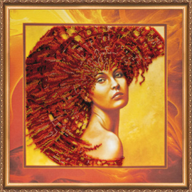 Kralen borduurpakket The Four Elements – Fire - Abris Art    aa-ab-222