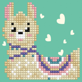 Diamond Dotz LLama Heart - Needleart World    nw-dd01-037f