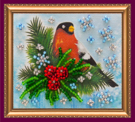 Kralen borduurpakket Bullfinch - Abris Art    aa-ama-032