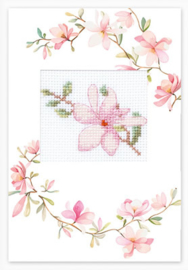 Borduurpakket Postcard Pink Flower - Luca-S    ls-sp085