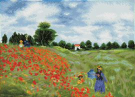 Diamond Dotz Poppy Fields (après Monet) - Needleart World    nw-dd12-048