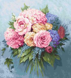Petit Point borduurpakket Bouquet - Luca-S    ls-g601