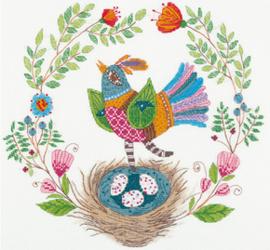 Borduurpakket Songbird - PANNA    pan-1953-pt