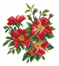 Voorbedrukt Aida Dog Rose - Matryonin Posad    mp-1297