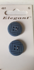 Knopen Elegant blauw (481)