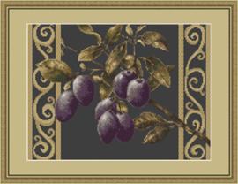 Borduurpakket Branch with prunes - Luca-S    ls-b279