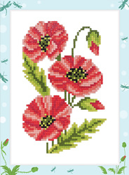 Diamond Painting Poppies - Freyja Crystal    fc-alvs-008