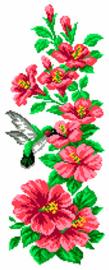 Voorbedrukt Aida Hummingbird - Matryonin Posad    mp-0777