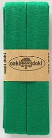 Oaki Doki Tricot de Luxe  / Jersey Biaisband / Groen 450