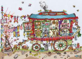 Borduurpakket Cut Thru' - Gypsy Wagon - Bothy Threads    bt-xct13