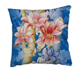 Diamond Dotz Magnolias on blue 1 - Needleart World    nw-dd16-013