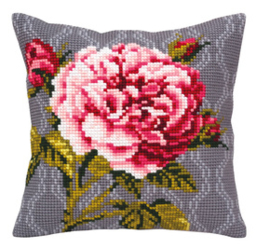 Kussen borduurpakket Tender Rose - Collection d'Art    cda-5341
