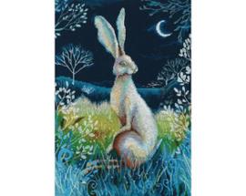 Borduurpakket Hare by Night - RTO   rto-m00611