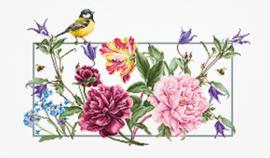 Borduurpakket Spring Flowers - Luca-S    ls-ba2359