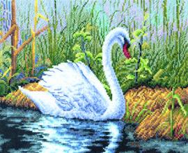 Borduurpakket White Swan - PANNA    pan-0306-j
