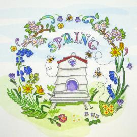Borduurpakket Amanda Loverseed - Spring Time - Bothy Threads    bt-xal03