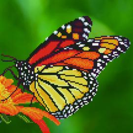 Diamond Art Monarch Butterfly - Leisure Arts    la-da02-50452